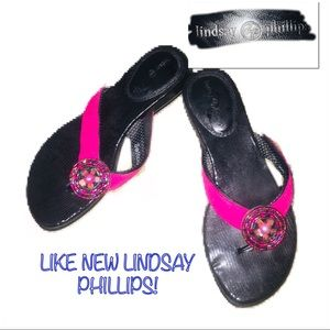 ‼️🔥LIKE NEW LINDSAY PHILLIPS Switch Flops!🔥‼️